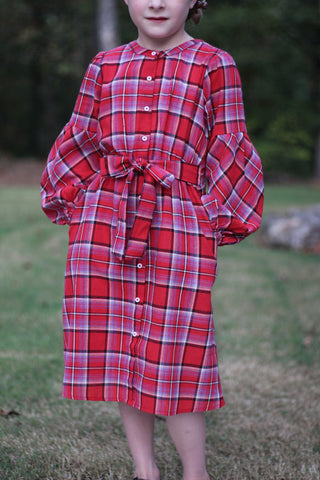 Girls Plaid Dress (7/8-13/14)