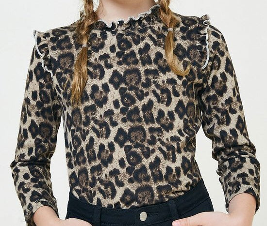 Girls Leopard Top
