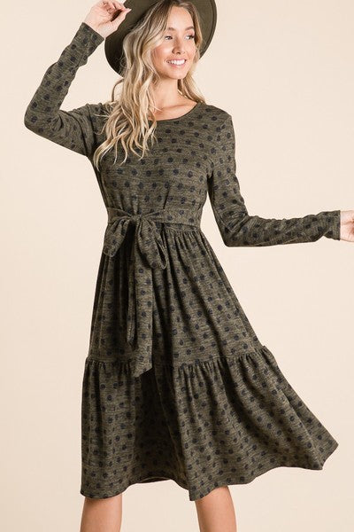 Avery Dress in Olive (S-XL)
