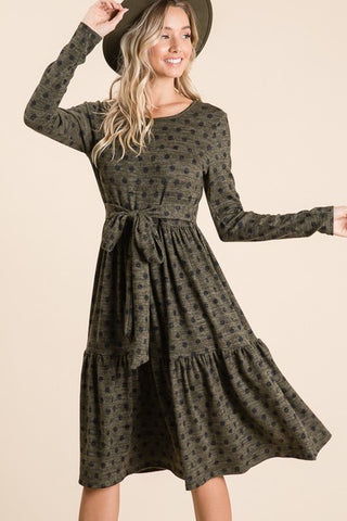 Avery Dress in Olive (S-L)