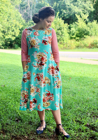 Abigail Dress in Mint {S-3X}