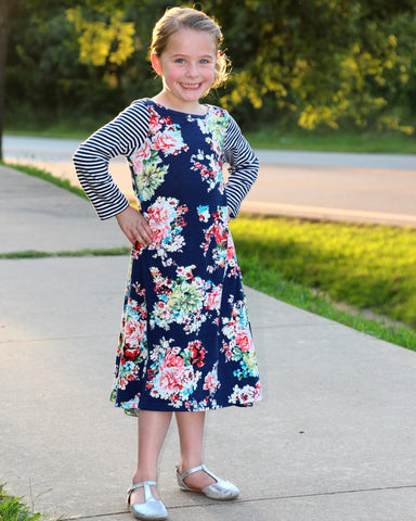 Abigail Dress in Navy for GIRLS