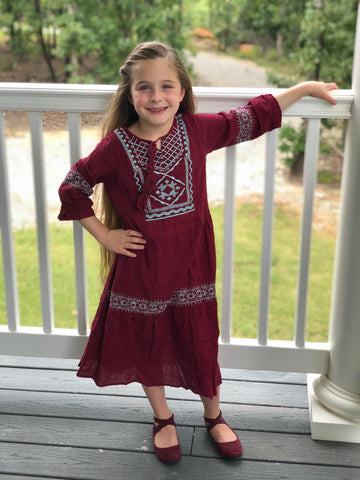 Girls Peasant Dress (7/8-13/14)