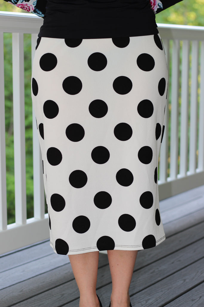 Amelia Dot Skirt in Black