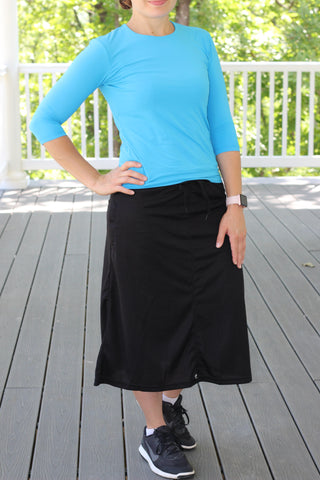 *NEW* Sports/Swim Skirt with Leggings in Black (PRE-ORDER)