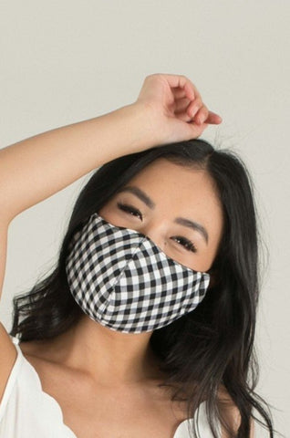 Gingham Face Mask {adult/teen}