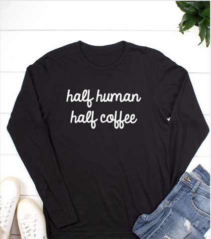 Half Human - Half Coffee Top (S-3X)