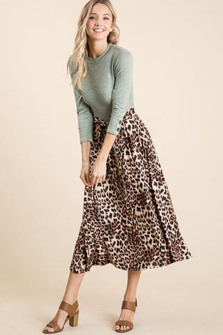 Ale Mint Leopard Dress (S-XL)