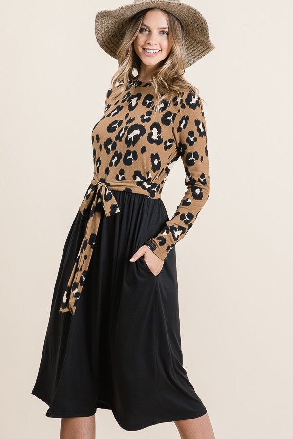 Leopard Midi Dress (S-XL)