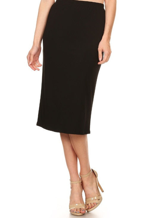Essential Skirt in Black {S-3X}