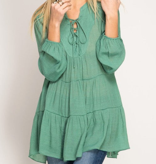 Babydoll Top in Pale Green