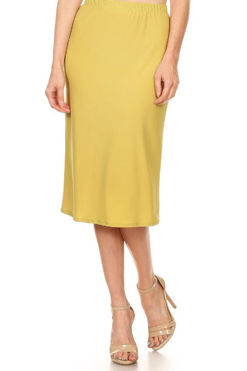 Essential Skirt in Chartreuse {S-3X}