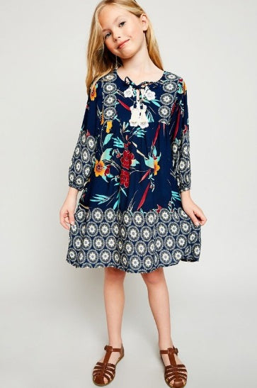 Tropical Peasant Tunic for Girls (7/8-13/14)