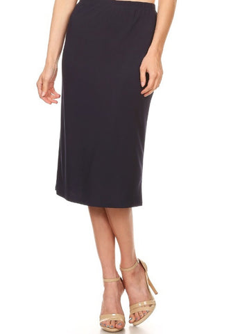 Essential Skirt in Navy {S-3X}