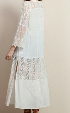 Elegant Lace Cardigan - Off White