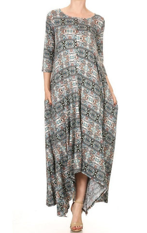 Drape Dress ~ Paisley {S-XL}