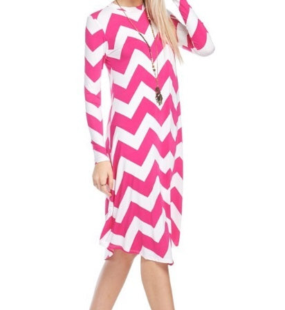 Chevron Dress (S-L)