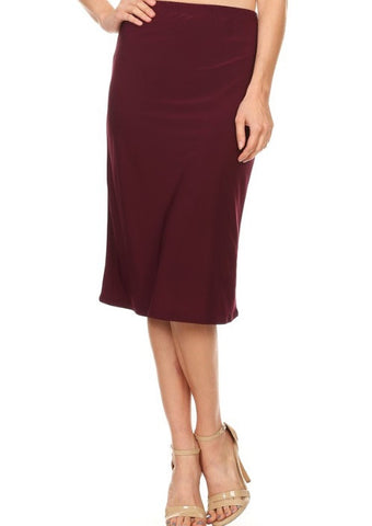 Essential Skirt in Plum {S-3X}
