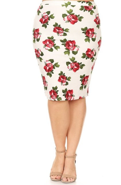 1f46b62c4478a Floral Skirt in White – The Modest Poppy