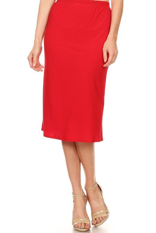 Essential Skirt in Red {S-3X}