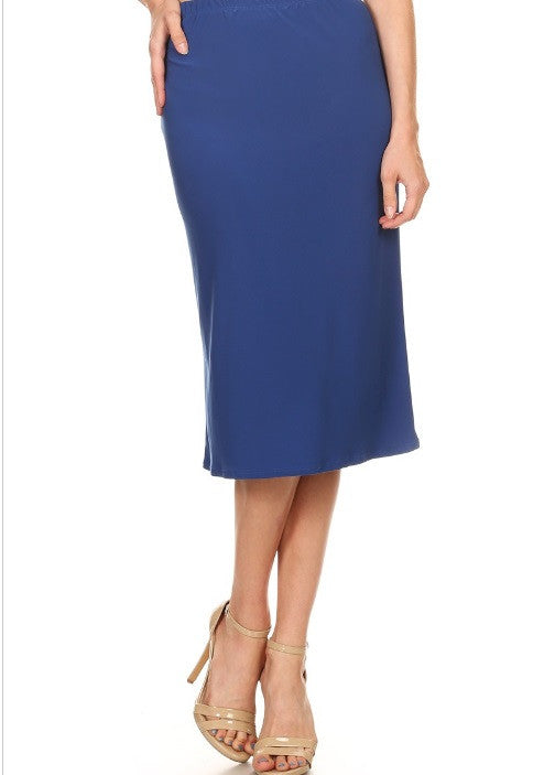 Essential Skirt in Royal Blue {S-3X}