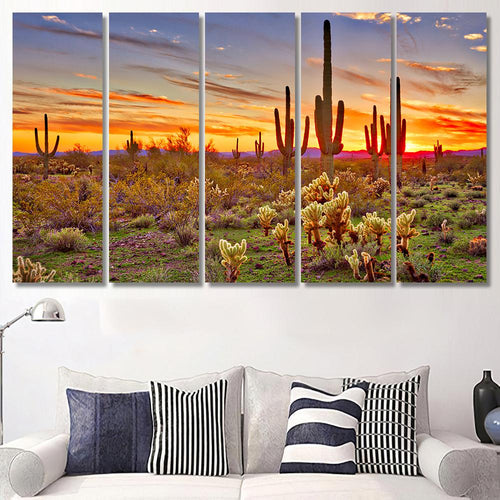 Arizona Large Sonoran Desert - Nature Canvas Art Wall Decor