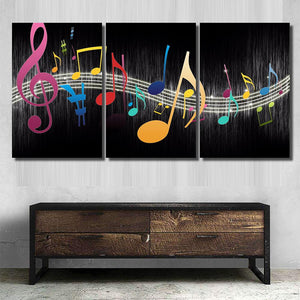 Colorful music notes - Music Canvas Art Wall Decor