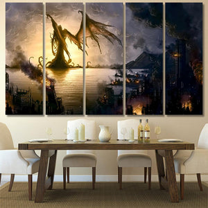 Cthulhu Mythos 2 - Abstract Canvas Art Wall Decor