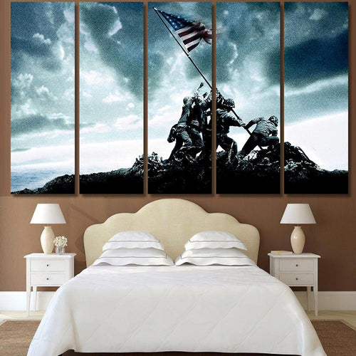 Iwo Jima Flag Raising - Army Canvas Art Wall Decor