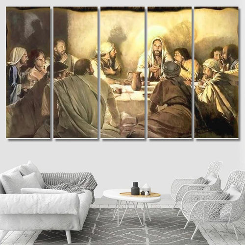 Last Supper 01 - Abstract Canvas Art Wall Decor