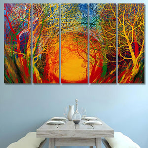 Radiohead Colorful Trees - Nature Canvas Art Wall Decor