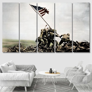 Raising The Flag - Iwo Jima - Army Canvas Art Wall Decor