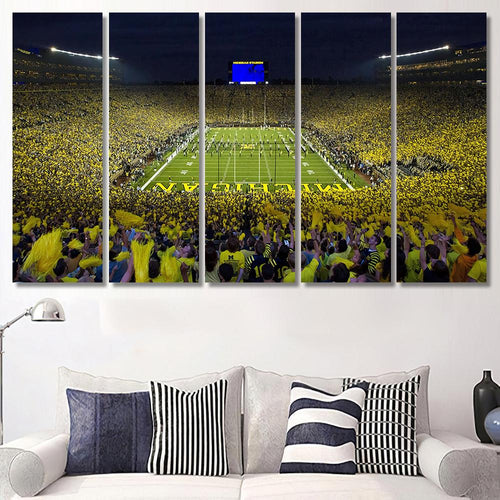 University Of Michigan Big House Stadium - Sport Canvas Art Wall Decor