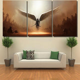 Warrior Angel Michael Christian - Abstract Canvas Art Wall Decor