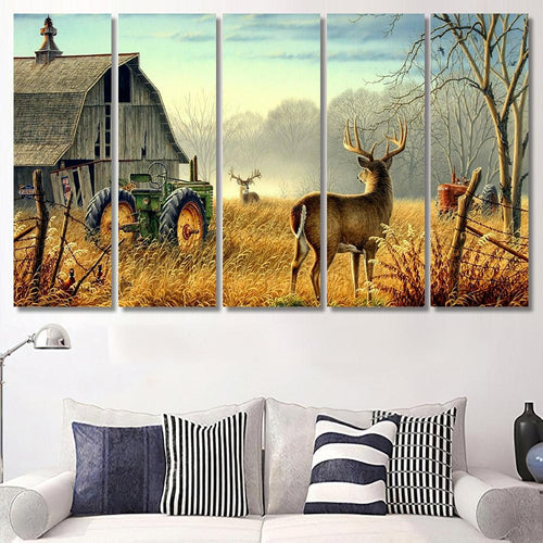 Whitetail Buck And Monster Buck Whitetail Deer - Animal Canvas Art Wall Decor
