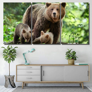 Wild Brown Bear Ursus Arctos Close 1  1 - Bear Animals Canvas Art Wall Decor