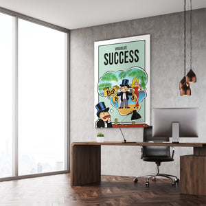 Bitcoin Edition - Visualize Success - Monopoly Man Art