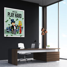 Load image into Gallery viewer, Work Hard Play Hard - Monopoly Man Art