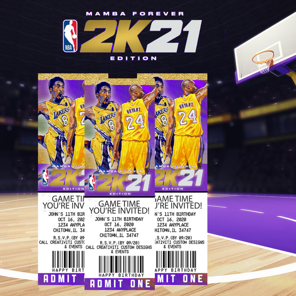 NBA 2K21 Digital Ticket Invitation