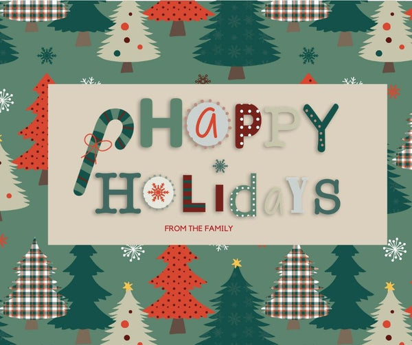 Happy Holidays Christmas Greeting Card