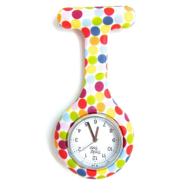 Rainbow Spots Analogue Silicone Fob Watch