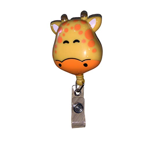 Giraffe Retractable Badge Holder
