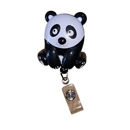 Panda Bear Retractable Badge Holder