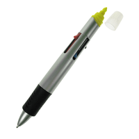 GfN 4 Colour Pen with Yellow Highlighter