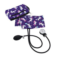 Purple Unicorn Aneroid Sphygmomanometer with Compact Carry Case for Nursing or Medical Equipment for Nurse, Midwife and Healthcare Professional