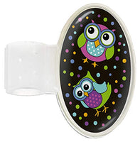 Black Bright Owl Stethoscope ID Holder Tag for Doctor, Nurse, Midwife and Healthcare Professional