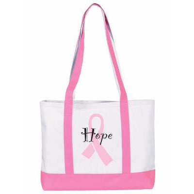 Pink Ribbon Tote Bag (Wide)