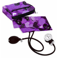 Aneroid Sphyg + Case - Lacy Purple Hearts