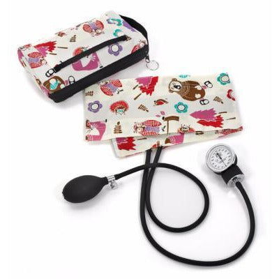 Aneroid Sphyg + Case - Woodland Animals Print