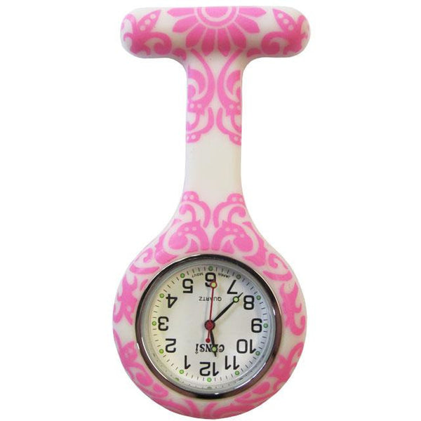 Gel Watch with Pink Swirl
